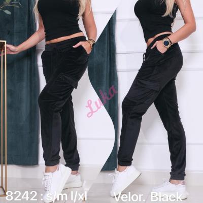 Women's black leggings 8242