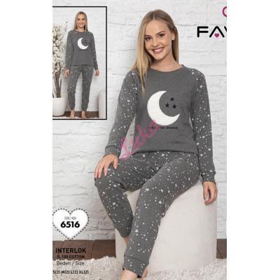 Piżama damska turecka gruba FAWN 555