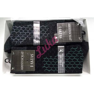 Men's turkish socks in box Paktas 1521 alaca