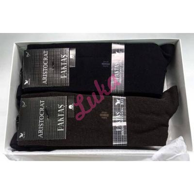 Men's turkish socks in box Paktas 1521 akoren