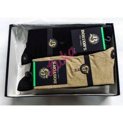 Men's bamboo turkish socks in box Boston's 6701 Terre Asorti