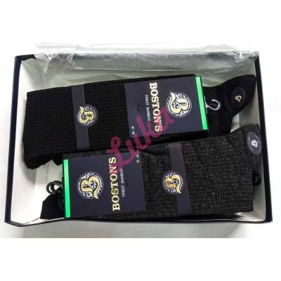 Men's bamboo turkish socks in box Boston's 6703 asorti
