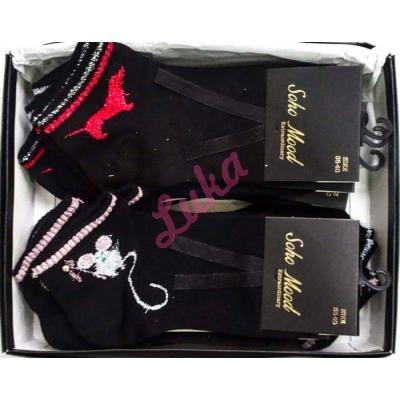 Women's turkish low cut socks in box Asorti 9505
