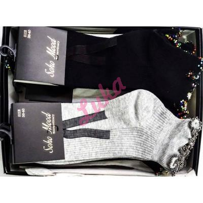 Women's turkish low cut socks in box Soho Asorti 9515