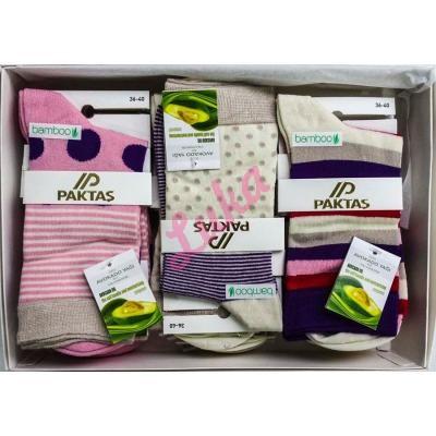 Women's turkish socks in box Paktas 2550