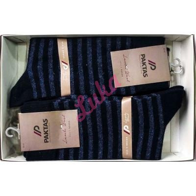 Men's turkish socks in box Paktas 1519-5