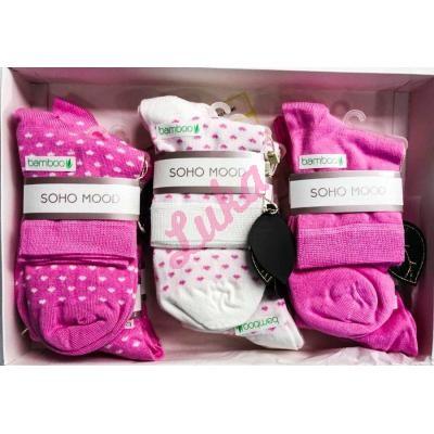 Women's turkish low cut socks in box Soho 2581-2