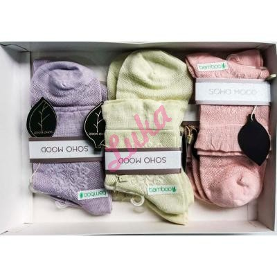 Women's turkish low cut socks in box Soho 2581-3