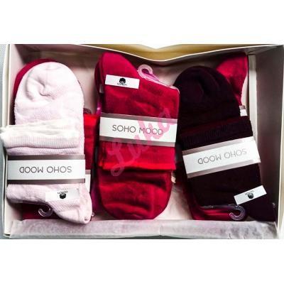 Women's turkish low cut socks in box Soho 2563
