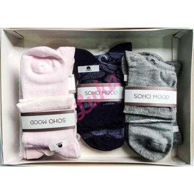Women's turkish low cut socks in box Soho 2563-2